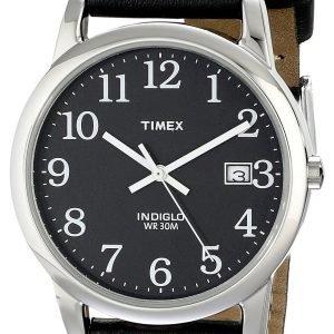 Timex Easy Reader T2n370 Kello Musta / Nahka
