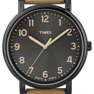 Timex Easy Reader T2n677d7 Kello Musta / Nahka