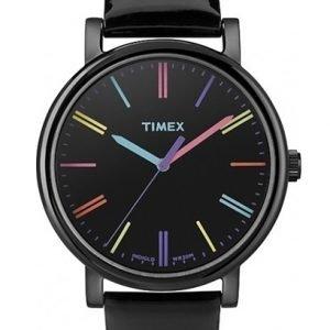 Timex Easy Reader T2n790 Kello Musta / Nahka
