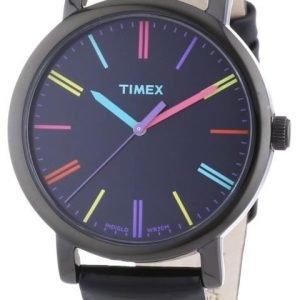 Timex Easy Reader T2n790d7 Kello Musta / Nahka