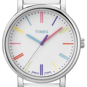 Timex Easy Reader T2n791 Kello Valkoinen / Nahka