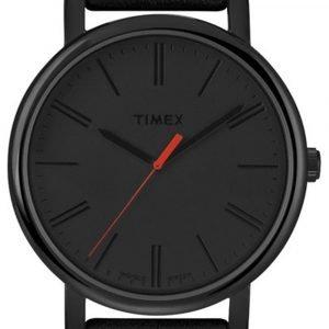 Timex Easy Reader T2n794 Kello Musta / Nahka