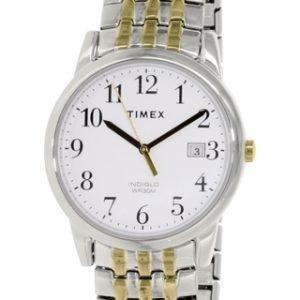 Timex Easy Reader T2p295 Kello Valkoinen / Kullansävytetty