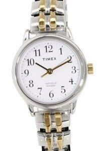 Timex Easy Reader T2p298 Kello Valkoinen / Kullansävytetty