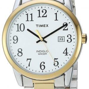 Timex Easy Reader Tw2r23500 Kello Valkoinen / Kullansävytetty