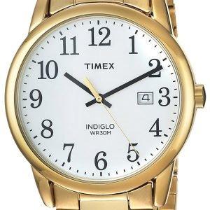 Timex Easy Reader Tw2r23600 Kello Valkoinen / Kullansävytetty
