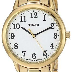 Timex Easy Reader Tw2r23800 Kello Valkoinen / Kullansävytetty