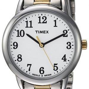 Timex Easy Reader Tw2r23900 Kello Valkoinen / Kullansävytetty