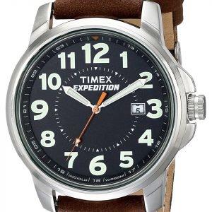 Timex Expedition T44921 Kello Musta / Nahka