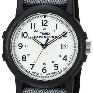 Timex Expedition T49713 Kello Valkoinen / Tekstiili