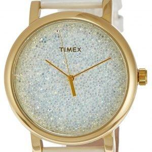 Timex Fashion T2p278 Kello Kristalleilla / Nahka