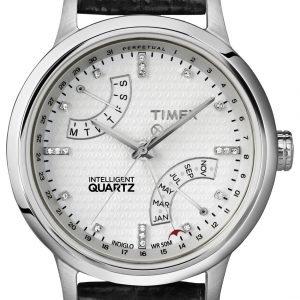 Timex Intelligent T2n570 Kello Valkoinen / Nahka