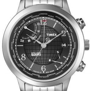 Timex Intelligent T2n610 Kello Musta / Teräs