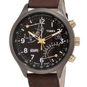 Timex Intelligent T2n931 Kello Musta / Nahka