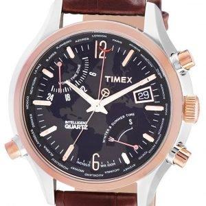 Timex Intelligent T2n942 Kello Musta / Nahka