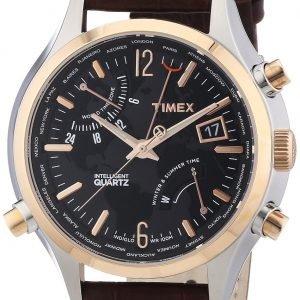 Timex Intelligent T2n942d7 Kello Musta / Nahka