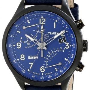 Timex Intelligent T2p380 Kello Sininen / Nahka
