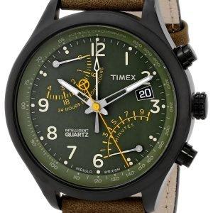 Timex Intelligent T2p381 Kello Vihreä / Nahka