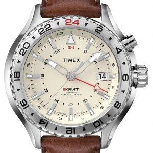 Timex Intelligent T2p426 Kello Beige / Nahka