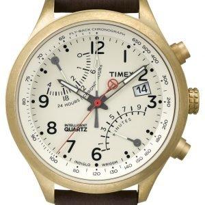 Timex Intelligent T2p510 Kello Valkoinen / Nahka
