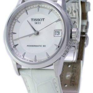Tissot Luxury T086.207.16.111.00 Kello Valkoinen / Nahka