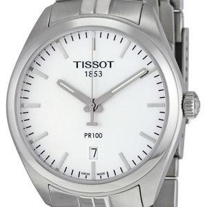 Tissot Pr 100 Gent T101.410.11.031.00 Kello Hopea / Teräs