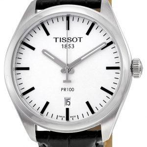 Tissot Pr 100 Gent T101.410.16.031.00 Kello Hopea / Nahka