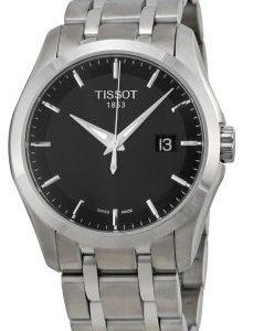 Tissot Quickster T035.410.11.051.00 Kello Musta / Teräs