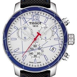 Tissot Quickster T095.417.17.037.00 Kello Hopea / Nahka
