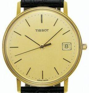 Tissot T-Gold Goldrun T71.3.401.21 Kello Samppanja / Nahka