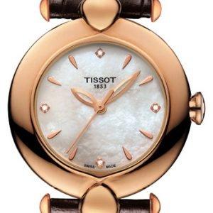 Tissot T-Gold Pretty T918.210.76.116.00 Kello Valkoinen / Nahka