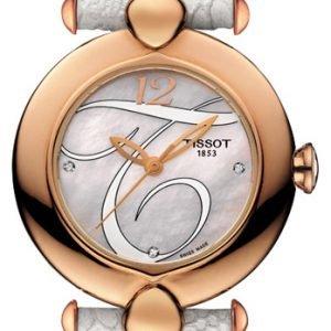 Tissot T-Gold Pretty T918.210.76.116.01 Kello Valkoinen / Nahka