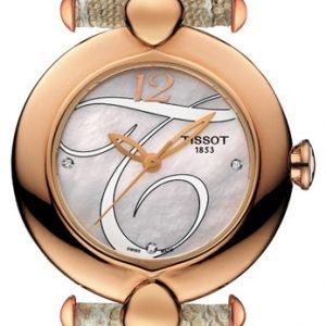Tissot T-Gold Pretty T918.210.76.116.02 Kello Valkoinen / Nahka