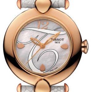 Tissot T-Gold Pretty T918.210.76.117.00 Kello Valkoinen / Nahka