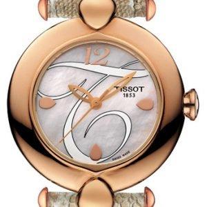 Tissot T-Gold Pretty T918.210.76.117.01 Kello Valkoinen / Nahka