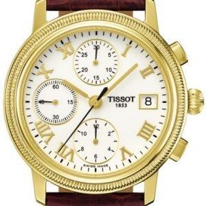 Tissot T-Gold T71.3.465.13 Kello Valkoinen / Nahka
