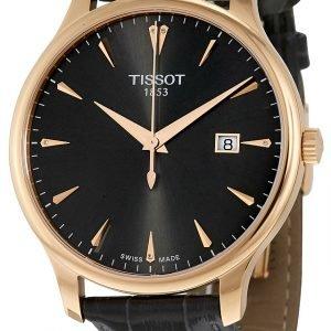 Tissot Tradition Gent T063.610.36.086.00 Kello Musta / Nahka