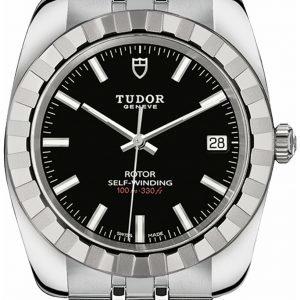 Tudor Classic Date 21010-0002 Kello Musta / Teräs