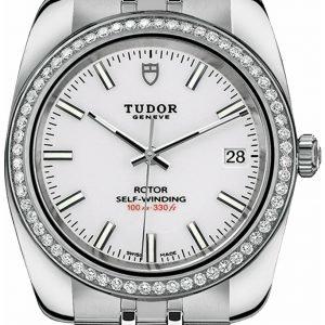 Tudor Classic Date 21020-0010 Kello Valkoinen / Teräs