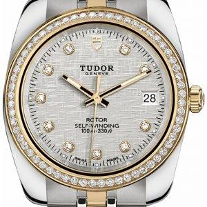 Tudor Classic Date 21023-0004 Kello Hopea / 18k Keltakultaa