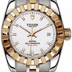 Tudor Classic Date 22013-0004 Kello Valkoinen / 18k Keltakultaa