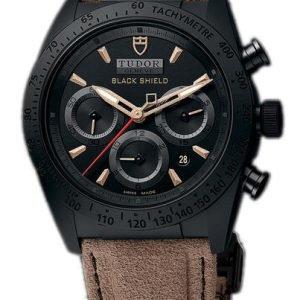 Tudor Fastrider Black Shield 42000cn-0016 Kello Musta / Nahka