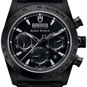 Tudor Fastrider Black Shield 42000cn-0017 Kello Musta / Nahka