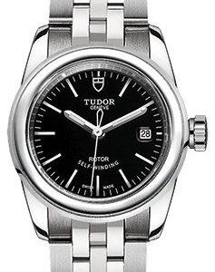 Tudor Glamour Date 51000-0009 Kello Musta / Teräs