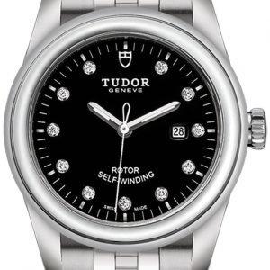 Tudor Glamour Date 53000-0001 Kello Musta / Teräs