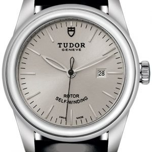Tudor Glamour Date 53000-0031 Kello Hopea / Nahka