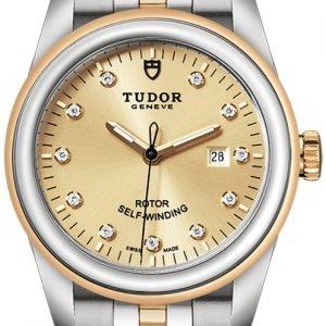 Tudor Glamour Date 53003-0006 Kello Kullattu / 18k Keltakultaa