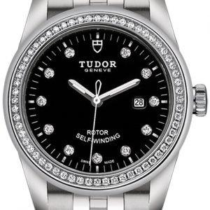 Tudor Glamour Date 53020-0007 Kello Musta / Teräs