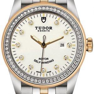 Tudor Glamour Date 53023-0066 Kello Valkoinen / 18k Keltakultaa
