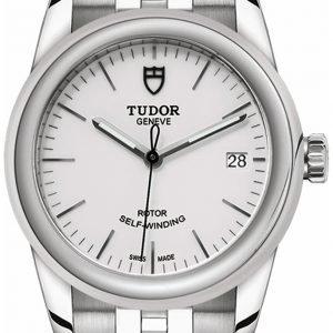 Tudor Glamour Date 55000-0001 Kello Valkoinen / Teräs